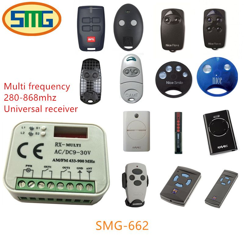 1X RX MULTI 300-900MHZ AC DC 9-30V Universal receiver suits FAAC NICE CAME DOORHAN Hormann SOMFY BFT transmitter/remote control