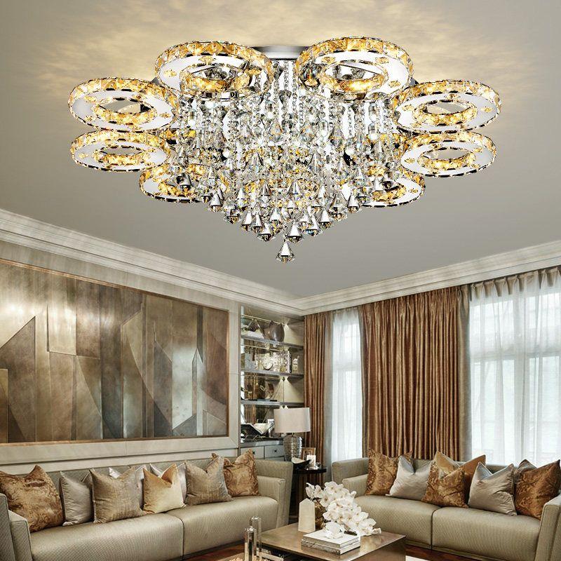 Moderne Led Kristall Decke Lichter Für Wohnzimmer luminaria teto cristal Decke Lampen Für Home Dekoration Freies verschiffen