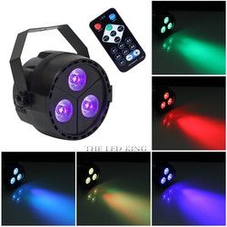 Fast shipping 24w Wireless Remote led Par lights RGB UV 4in1 flat par led dmx512 disco lights professional stage dj equipment
