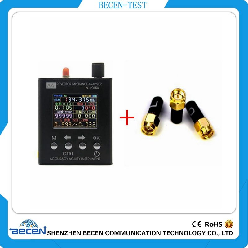 English verison N1201SA 140MHz-2.7GHz UV RF ANT SWR Antenna Analyzer Meter Tester 140MHz - 2.7GHz + Male SMA calibration