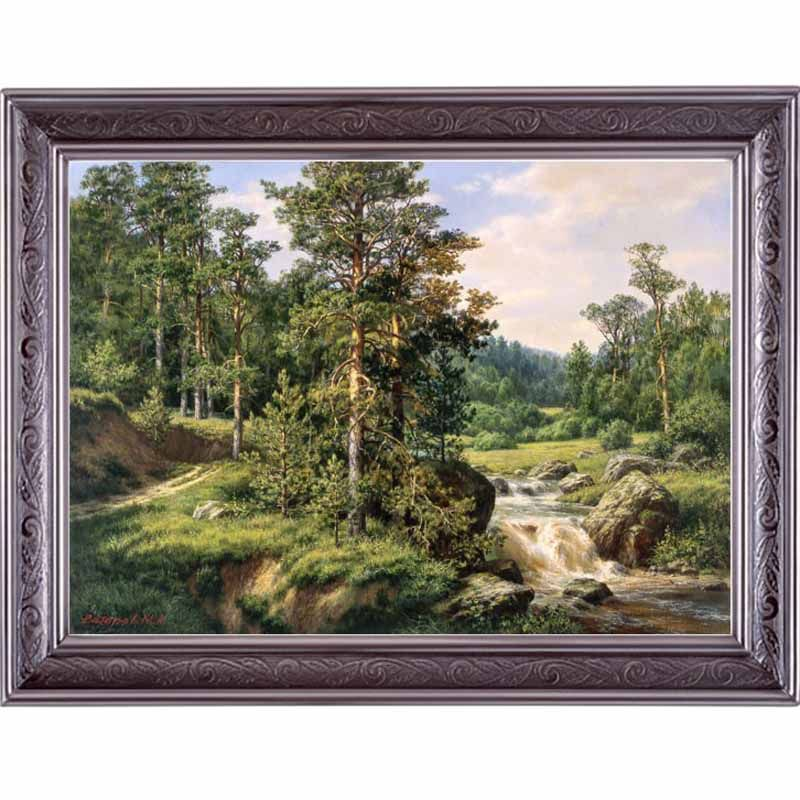Golden Panno,Needlework,Embroidery,DIY Landscape Painting,Cross stitch,kits,14ct Pines home Cross-stitch,Sets For Embroidery