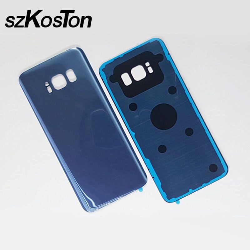 Glas Batterie Zurück Cover Gehäuse Fall Ersatz Für Samsung Galaxy S8 G950 G950F Tür gehäuse Fall Für Samsung S8 Plus g955