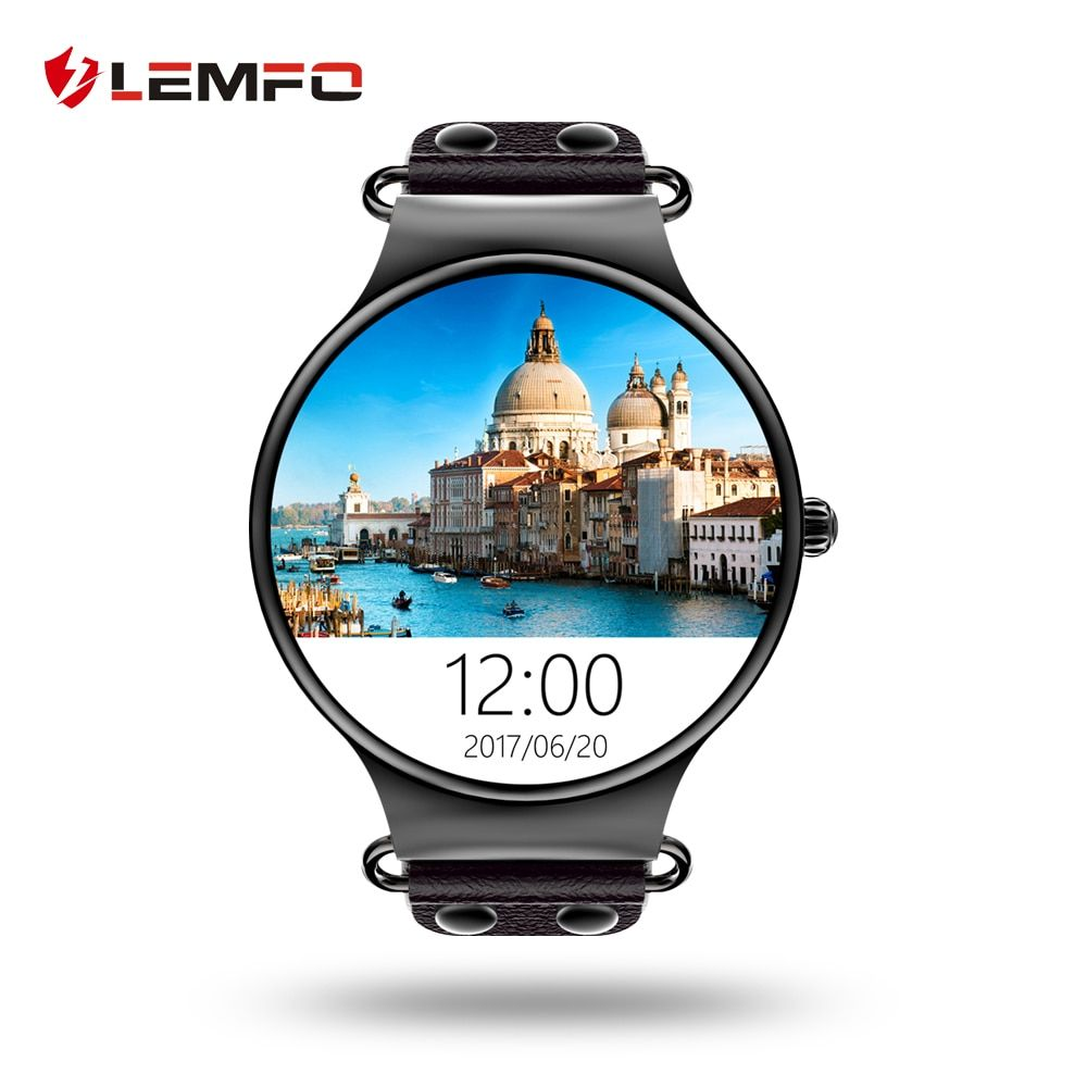 LEMFO LEF1 Bluetooth Smartwatch Android 5.1 MTK6580 With SIM Card Slot Support GPS/ WIFI Heart Rate Pedometer 2017 NEW ARRIVAL