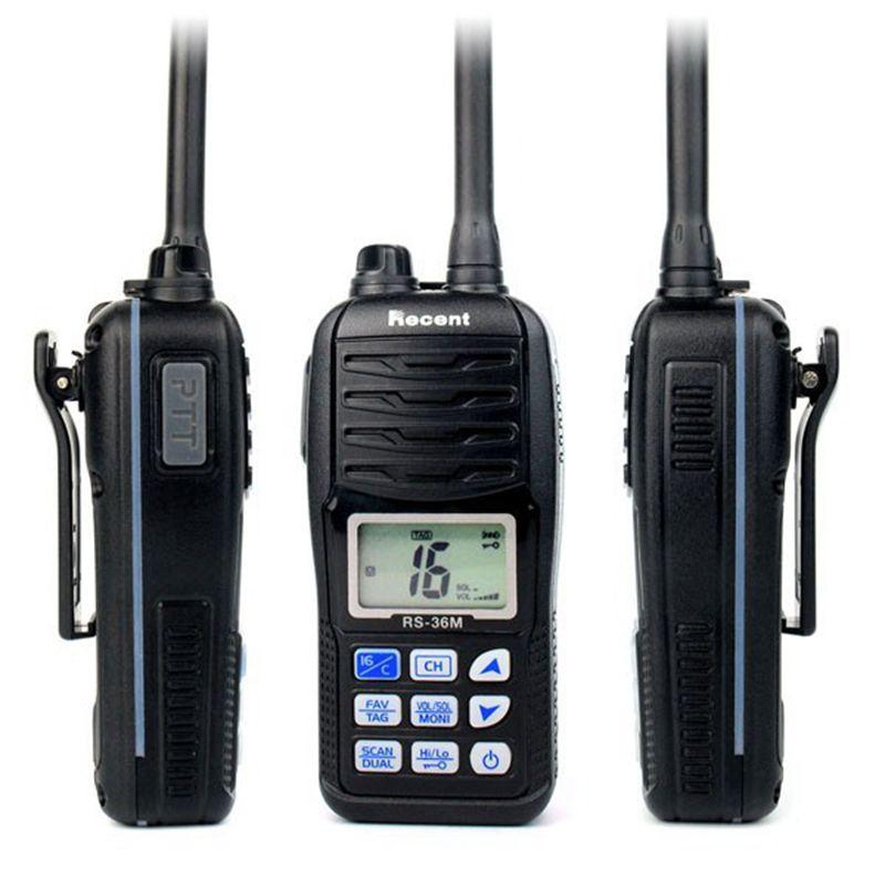 Recent RS-36M Marine radio Waterproof Intercom 80CH IP-X7 Flash and Float Handheld 156.000-161.450MHz Marine Radio RS-36M