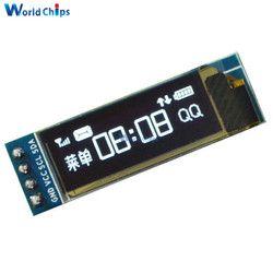 0.91 Inch 128x32 IIC I2C White OLED LCD Display DIY Oled Module SSD1306 Driver IC DC 3.3V 5V For Arduino PIC