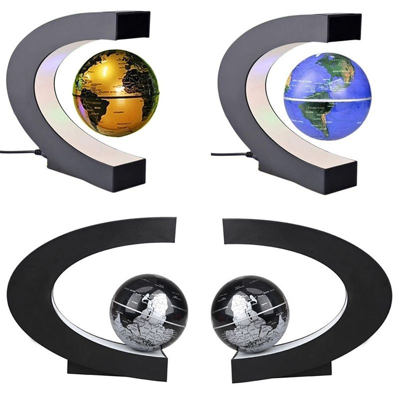 Unique Anti-Gravity Levitating Terrestrial Globe with White LED lights 88 AN88