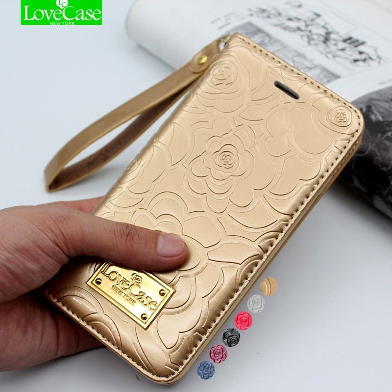 Latest 7 plus camellia wallet flip Patent Leather Case for iPhone 7 Plus 7Plus Genuine Leather phone Bag Pouch Phone <font><b>Cover</b></font> Cases