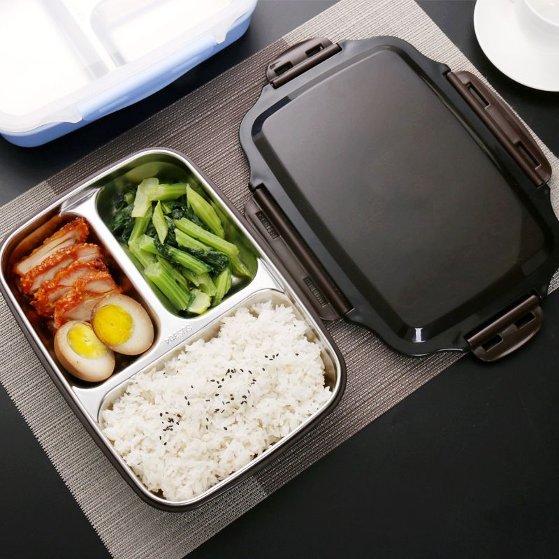 ONEUP Lunch box Stainless Steel Portable Picnic office School Food Container With Compartments Microwavable Thermal Bento Box