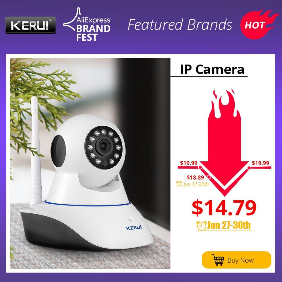 KERUI 720P 1080P HD Wifi Wireless Home Security IP Camera Security Network CCTV Surveillance Camera IR Night Vision Baby Monitor