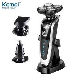 Kemei KM-5886 3 в 1 моющиеся Перезаряжаемые электробритва 5 электробритва Головы Электробритва 5d для Для мужчин Уход за лицом