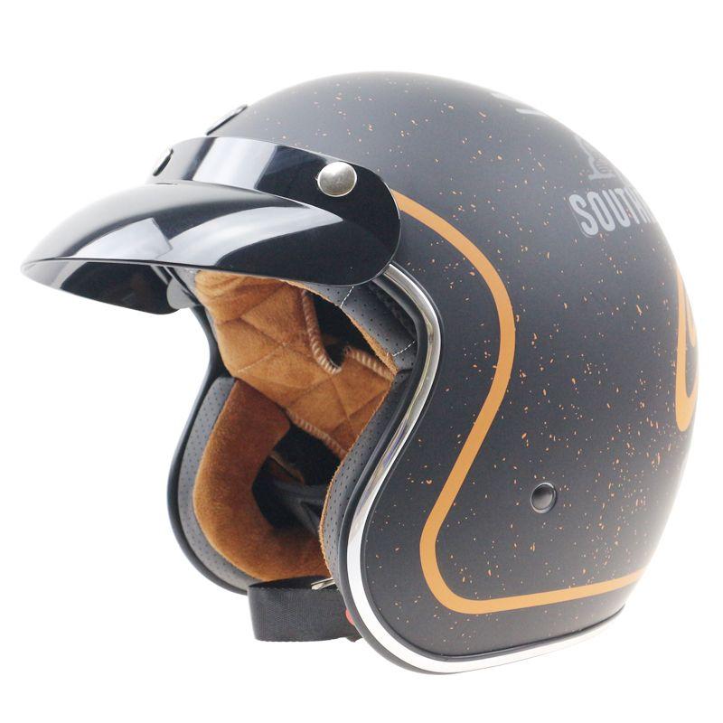 Professional Harley Style motorbike helmet Jet helmet with internal black sunglasses DOT ECE approved motorcycle helmet