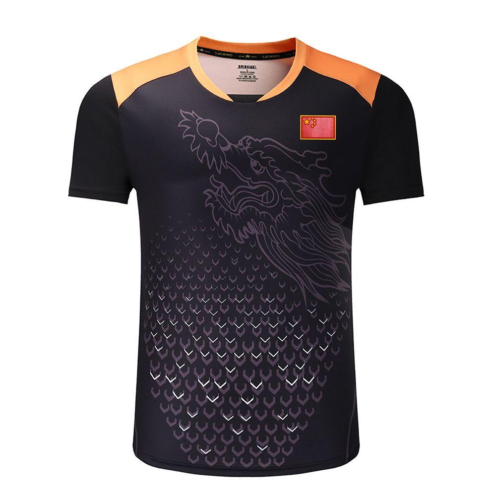 Neue CHINA Dragon tischtennis shirts Männer mit flagge, ping pong shirts, tischtennis kleidung, tischtennis sport Shirts