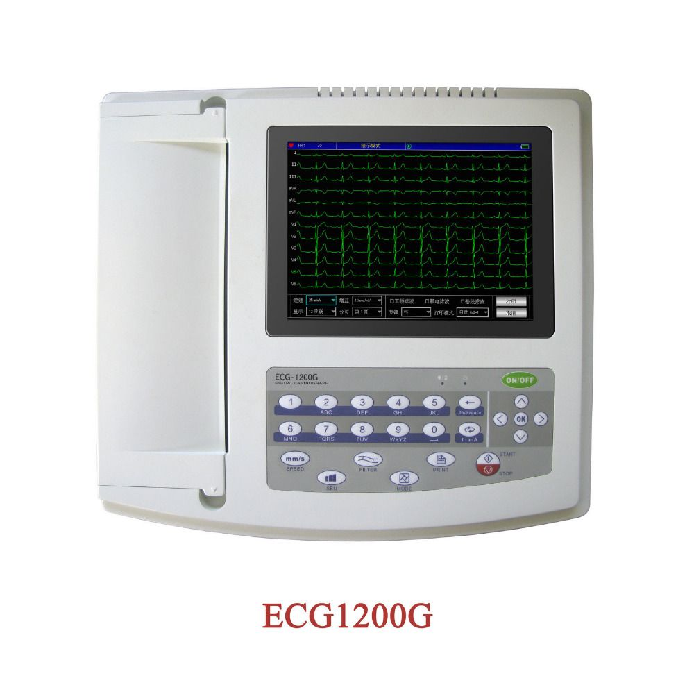 Contec 12-Channel 12 Lead ECG/EKG Electrocardiograph,Realtime Analysis NEW ECG1200G
