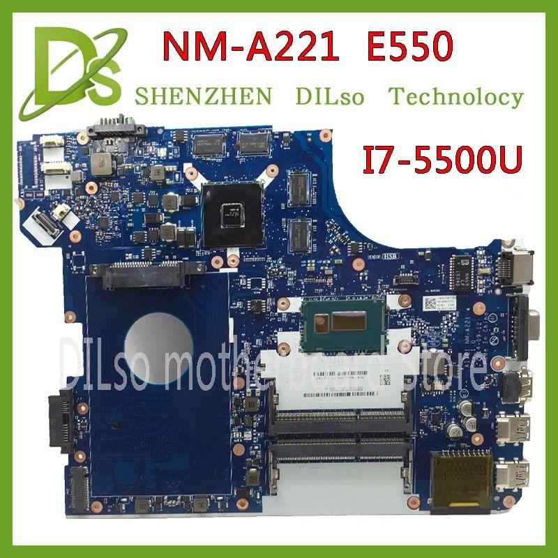 KEFU NM-A221 motherboard for Lenovo Thinkpad E550 laptop motherboard I7-5500u mainboard Test original motherboard PM