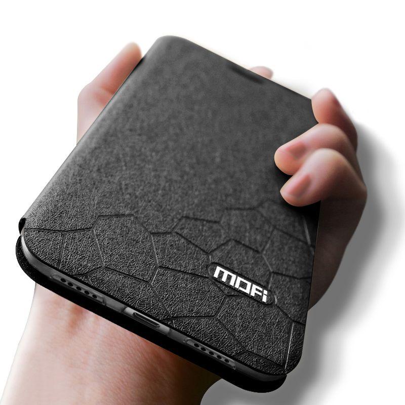Mofi étui à rabat en cuir d'origine pour Xiaomi Redmi Note 5 7 6 Pro 4X 6A S2 Plus 360 antichoc de luxe Funda noir bleu livre