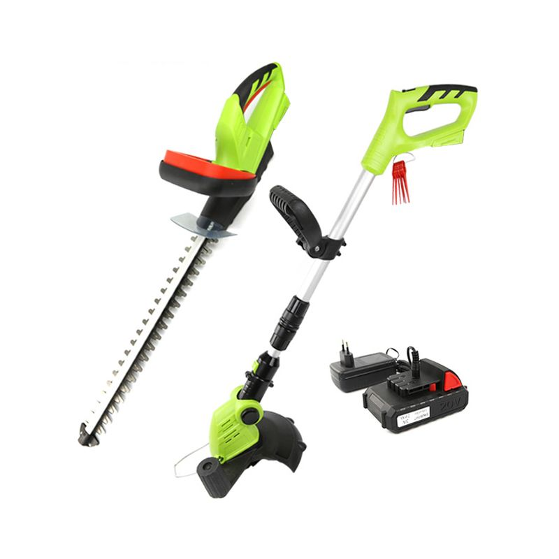 DEKO 2 In 1 20V Lithium Battery Cordless Grass Trimmer & Cordless Hedge Trimmer Garden Tool Set Home Garden Tool Set