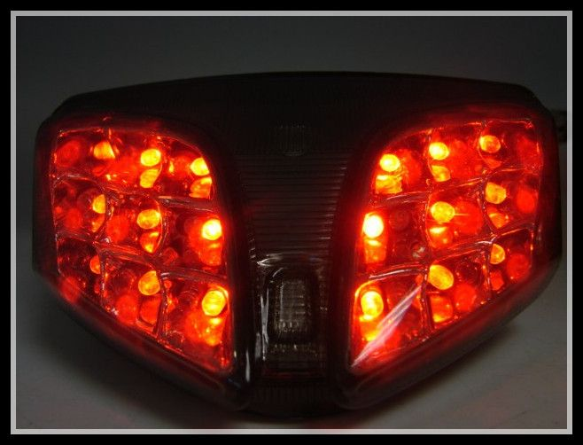 SMOKE INTEGRATED LED TAIL LIGHT W/TURN SIGNAL FOR 2008 2009 2010 GSXR 600 750