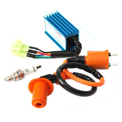Racing Ignition Coil+Spark Plug+CDI Box For GY6 50cc-150cc 4-Stroke Engines ATV