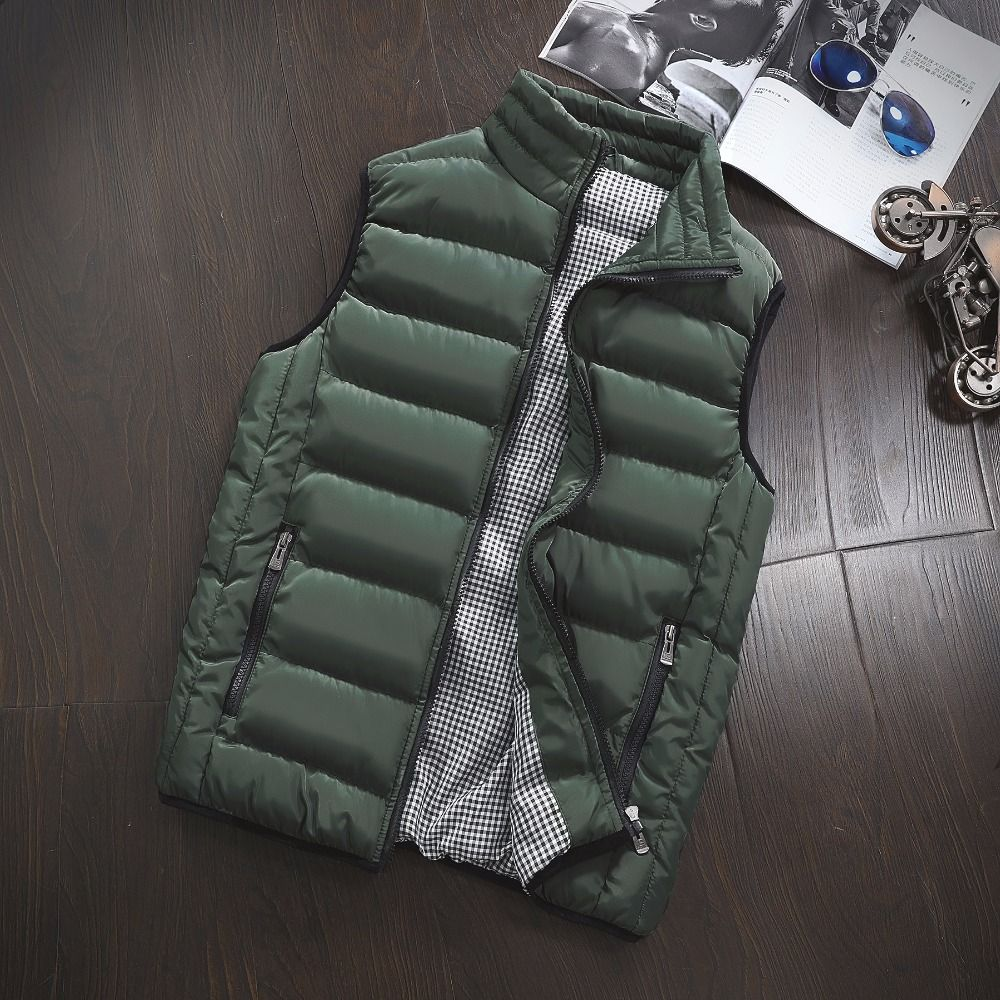 5XL Unisex Men's Cotton-Padded Vest Casual Outwear homme Winter Jackets Women's Coats Male Vest Mens Windproof Warm Waistcoat