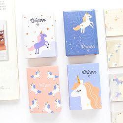 Mignon Kawaii Animal de Bande Dessinée Licorne Mémo Flamingo Bloc-Notes 6 Fold Sticky Notes Pad Pour Enfants portable École Papeterie Fille Cadeau
