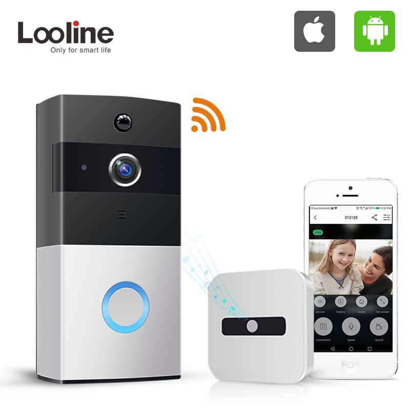 Door Bell Camera Wifi Video Intercom IP Doorbell Looline Outdoor Battery PIR IP65 Waterproof Night Vision Deurbel Door Phone