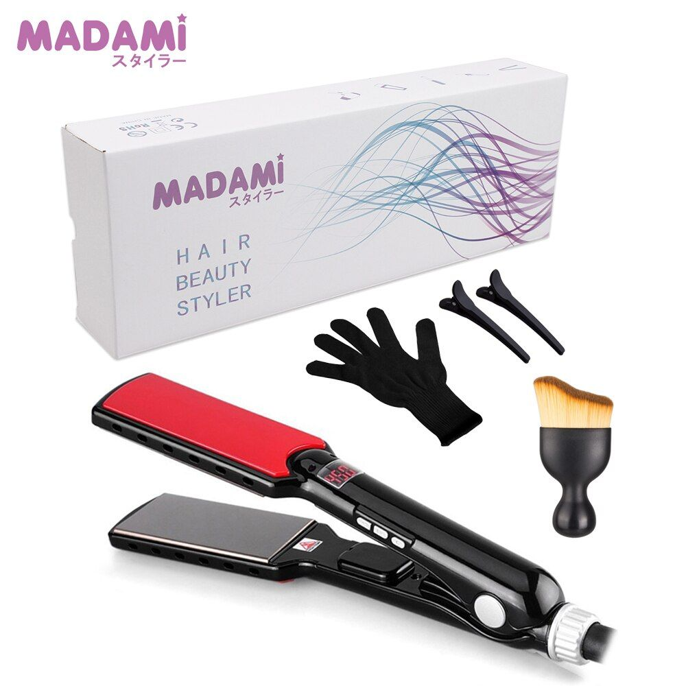 MCH 470F High Temperature Wide Plates Keratin Straightening Irons Styling Tool Titanium Professional Hair Straightener Flat Iron