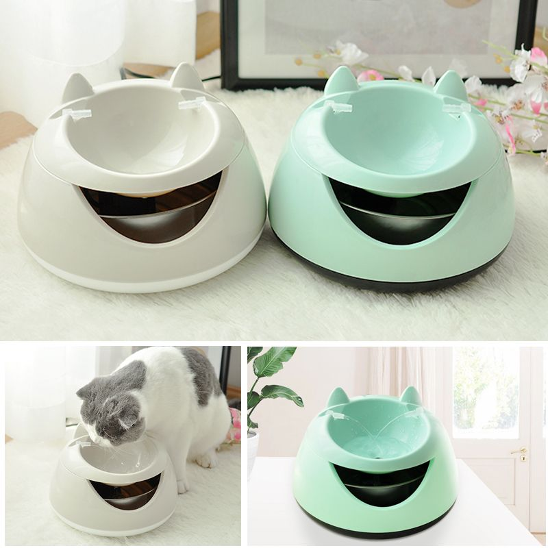 Pet automatic drinking fountain with luminous lamp cat automatic circulation filter water feeder 1.5L Dog Cat Drinker Bowl