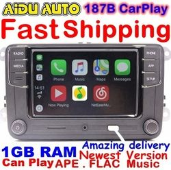 RCD330 Plus RCD330G Carplay MIB Radio Pour VW Golf 5 6 Jetta MK5 MK6 CC Tiguan Passat B6 B7 Polo 6RD035187B Mirrorlink RCD510 210