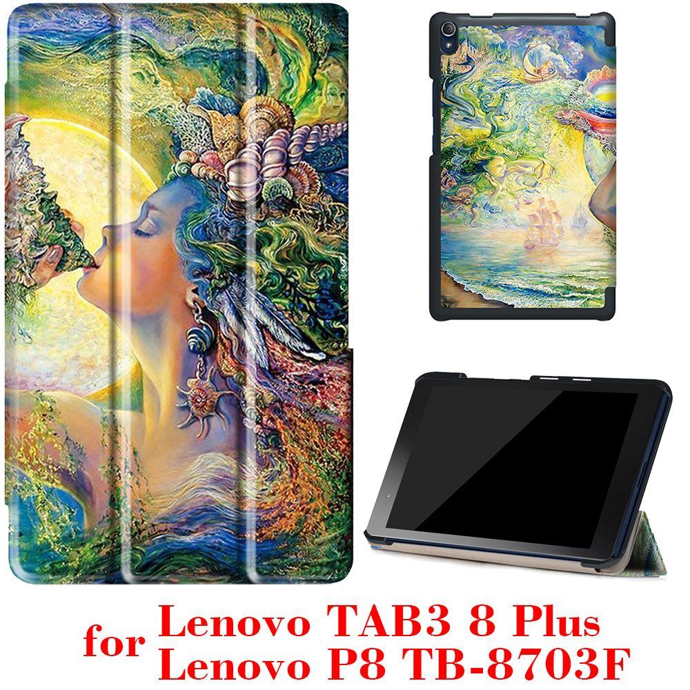 Case pour Lenovo Tab3 8 Plus et P8 TB-8703 TB-8703F 8 pouces Tablet 2016 libération avec stand Ultra slim PU En Cuir De Protection Case