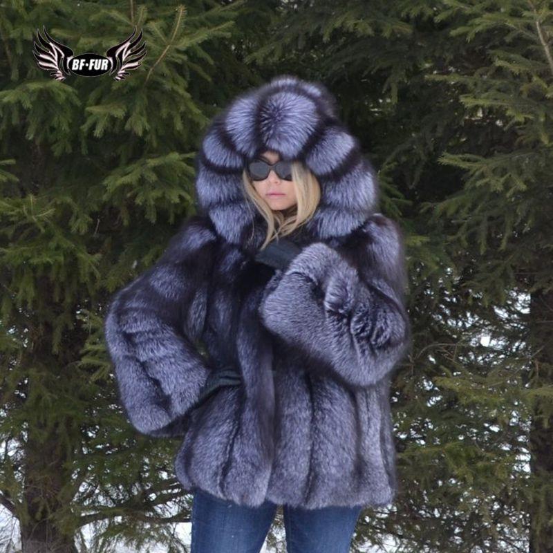 BFFUR Mode Frauen Mäntel 2018 Winter Palace Pelz Mäntel Aus Natürlichen Pelz Echt Leder Jacke Weiblichen Fuchs Oberbekleidung Plus Größe tops