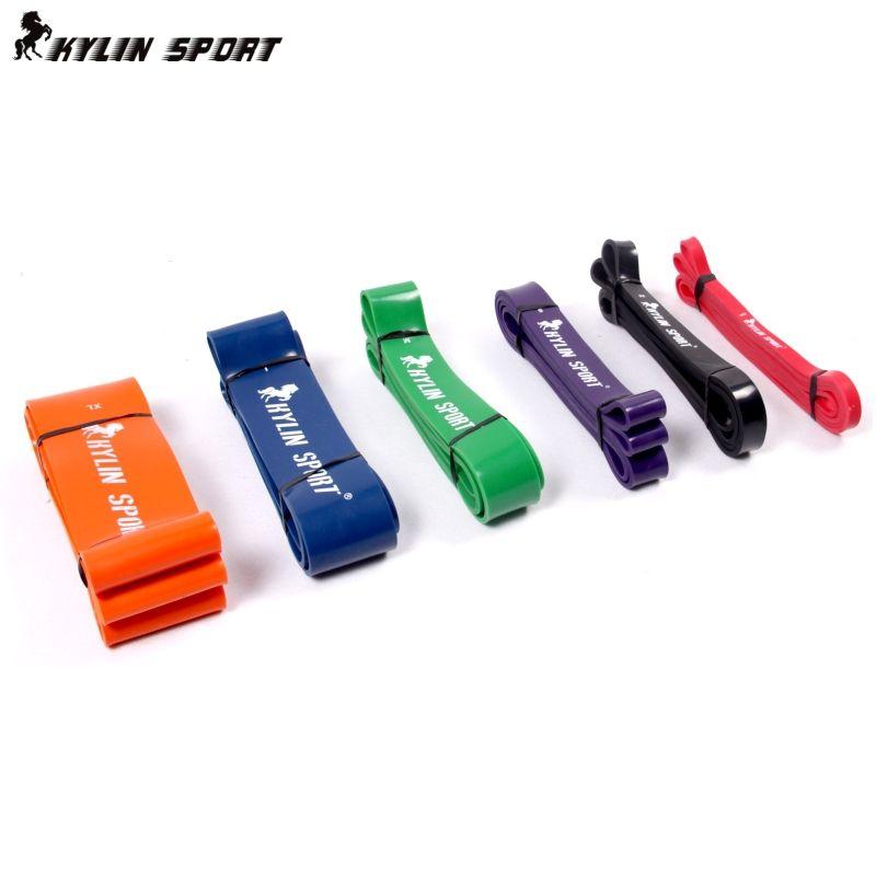 Bandes de résistance avec résistance à la traction formation poids squats athlétisme musculation jambe élastique bande de Remise En Forme Anti-Rallye