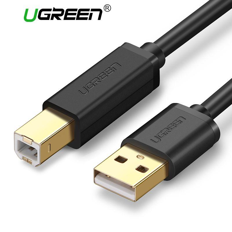Ugreen USB Druckerkabel USB Typ B Stecker auf A Stecker USB 3,0 2,0 Kabel für Canon Epson HP ZJiang Etikettendrucker DAC USB drucker