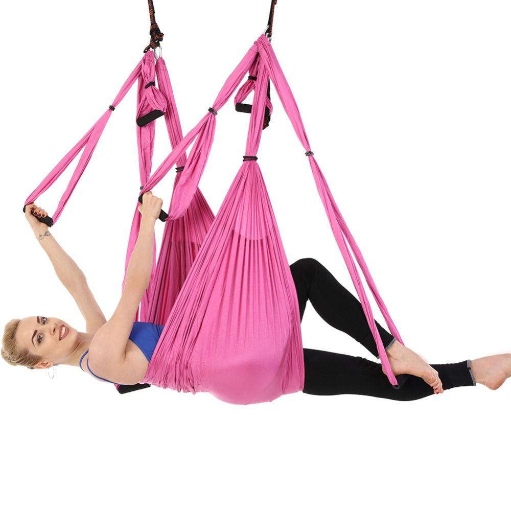 GR Yoga Gürtel Hängematte Für Yoga Anti-schwerkraft Luft Straps Hohe Festigkeit Stoff Dekompression Hängematte Yoga Schaukel Fitness Training