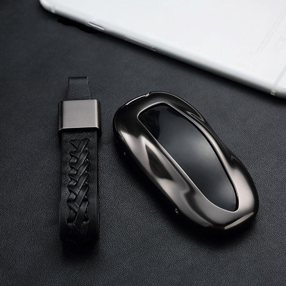Для Tesla модель s Алюминий сплав + кожа автомобильный удаленный ключевой чехол Корпуса протектор с Ткань Пряжка Аксессуары