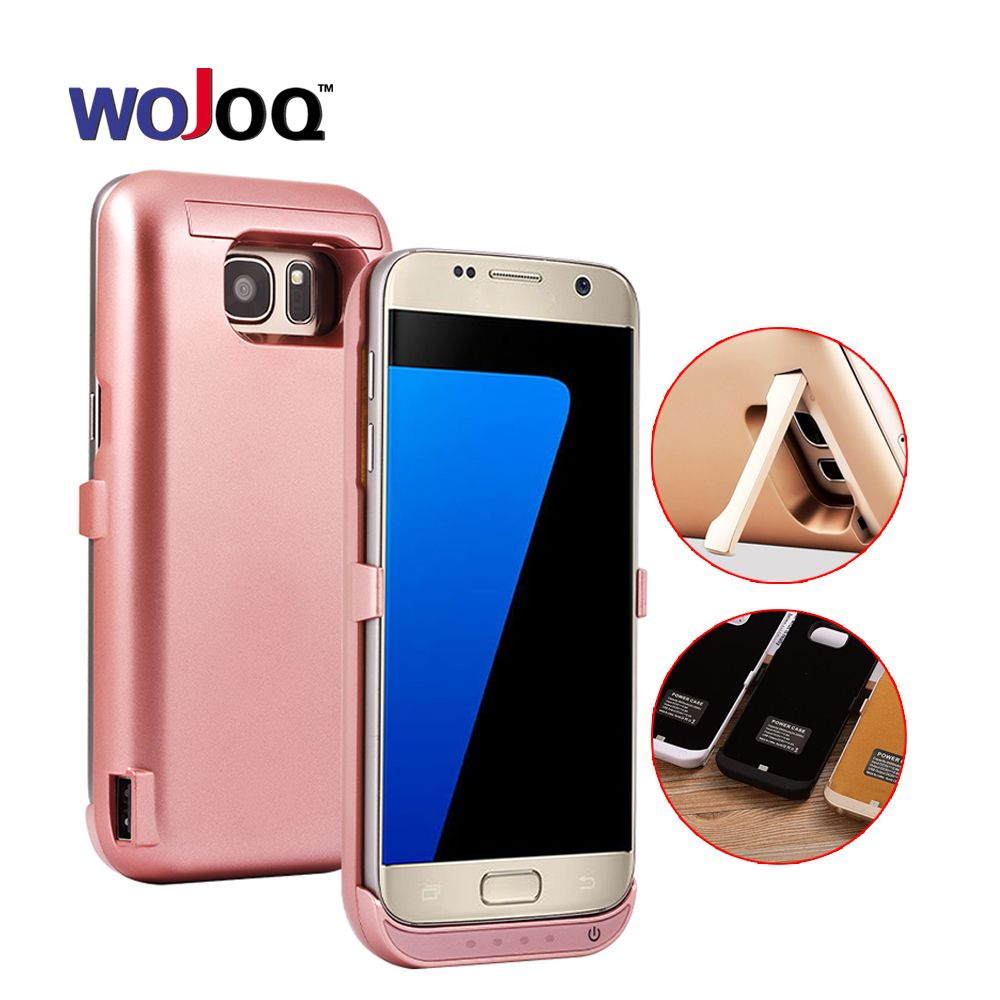 WOJOQ Battery Charger Case For Samsung S7 S7 Edge Battery Case Power Bank Charge Cover For S7 Edge External Backup Charger