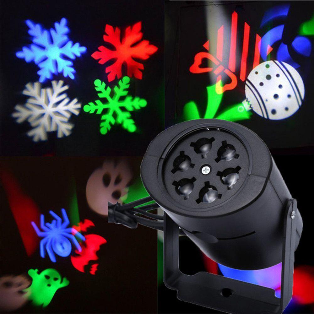 Móvil Proyector Láser Lámparas LED Copo de Nieve Etapa Lámpara de Luz Para la Fiesta de Navidad Paisaje Jardín de la Luz