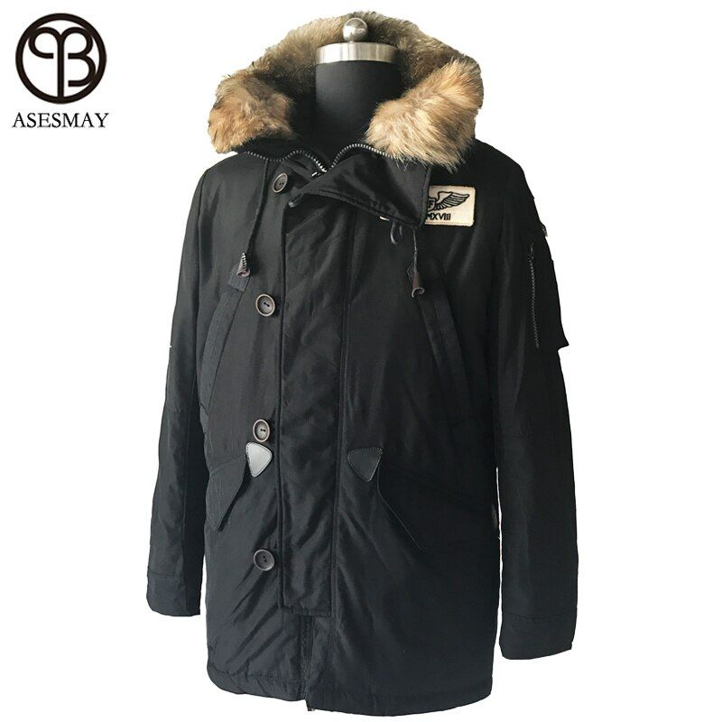 Asesmay brand clothing winter men down jacket mens winter coat high quality thick men's parka wellensteyn casual winter jackets