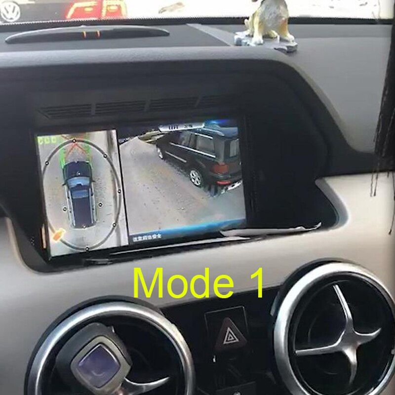 2018 Newest Dual Mode 3D HD Surround View Monitoring System 360 Degree Driving Bird View Panorama Car Cameras 4-CH DVR Recorder
