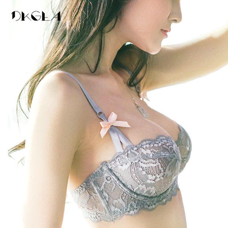Hot Sexy soutien-gorge ensemble grande taille 36 38 40 Ultrathin sous-vêtements femmes ensemble blanc dentelle soutien-gorge broderie Transparent Lingerie marque brassière