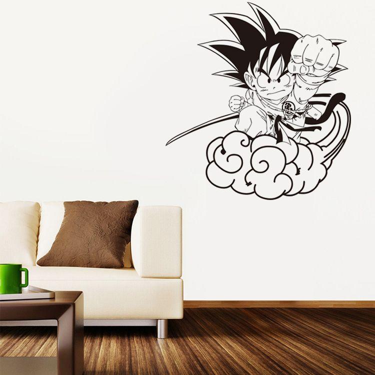 Nouveau dessin animé Dragon Ball Sun Wukong Somersault nuage vinyle sticker mural décor à la maison enfants chambre papier peint amovible stickers muraux