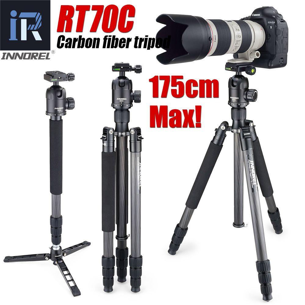 RT70C Carbon Fiber stativ einbeinstativ für professionelle digitale dslr kamera teleobjektiv heavy duty stand tripode Max Höhe 175 cm