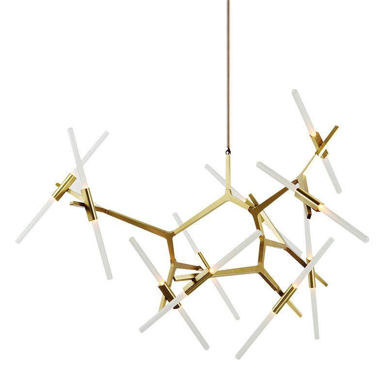 Modern Led Gold Black Hanging Lights Fixtures Chandelier Lighting For The Bedroom Living Room Kitchen Home Decorations