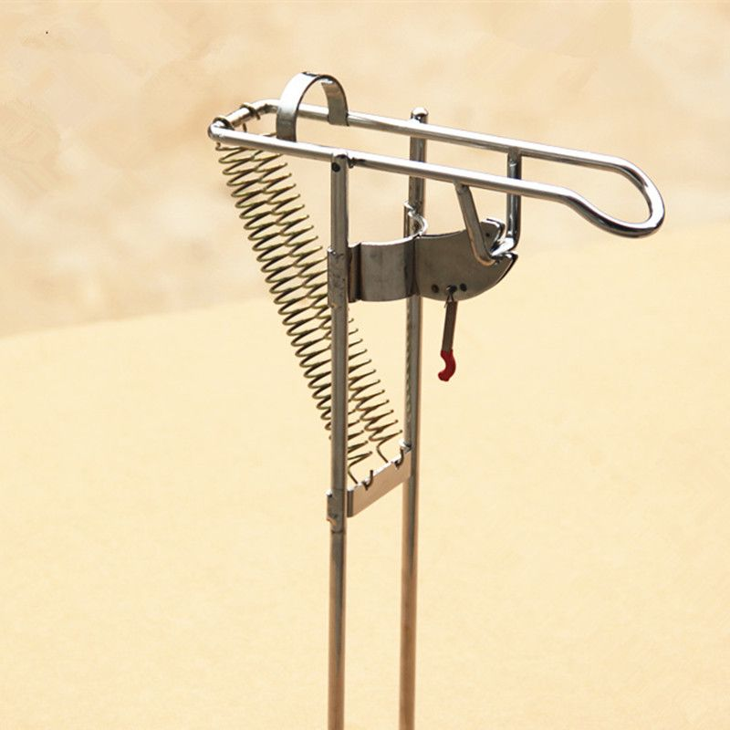 Steel Automatic fishing rod mount spring fishing pole holder sea rod fishing tackle <font><b>supplies</b></font> AT2311 Nickel Plated High Strength