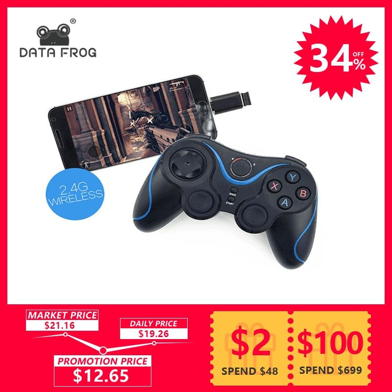 Wireless Game Controller Joystick With OTG For PC Games Gamepad Universal For Android TV Box Tablet For Cell Phone Remote <font><b>2.4G</b></font>