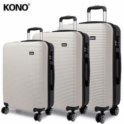 KONO Suitcase Rolling Luggage Carry-ons Hand Trolley Case Travel Bags 4 Wheels Spinner Hardside PC 20 24 28 Inch Set YD6676L