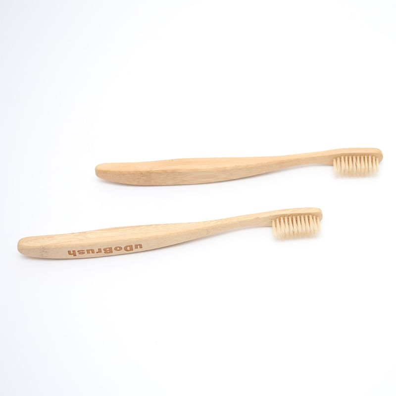 2PCS FDA Certification Soft Bristle Big Handle Adult Eco Friendly Natural Bamboo Toothbrush Tooth Brush