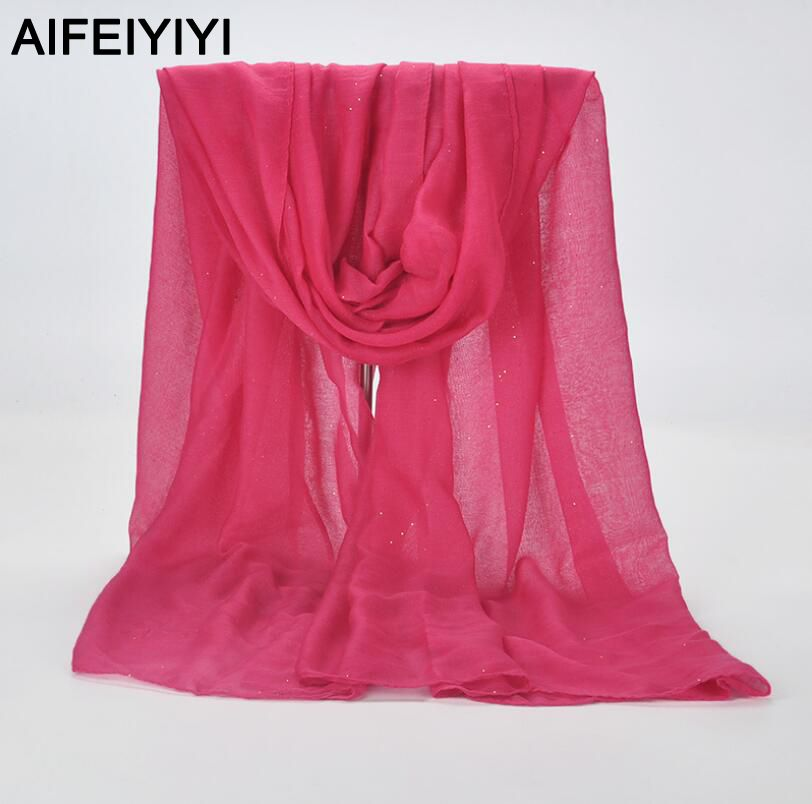 2018 new twill yarn large thin fashion sunscreen shawl spring and autumn solid color candy silk scarf beach towel