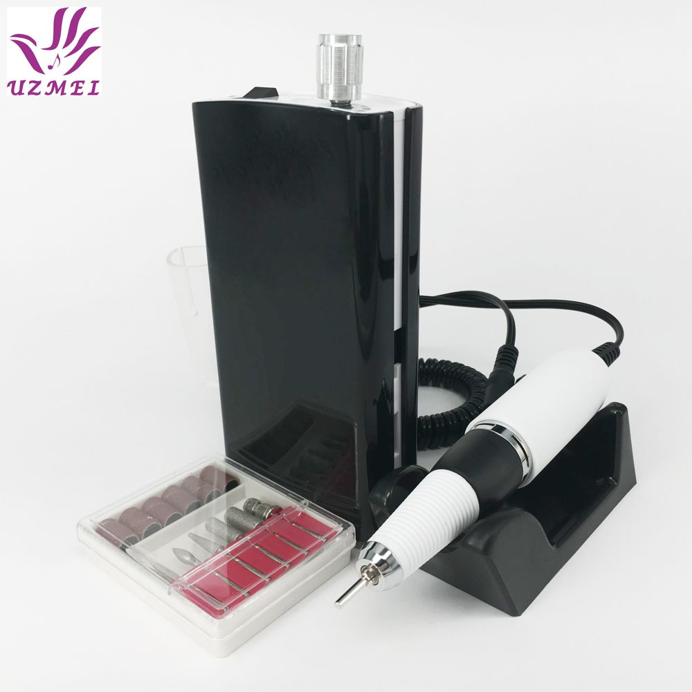 30000RPM Nail Polishing Portable Electric Nail Drill Machine Rechargeable Cordless Manicure Pedicure Set Nail Tools