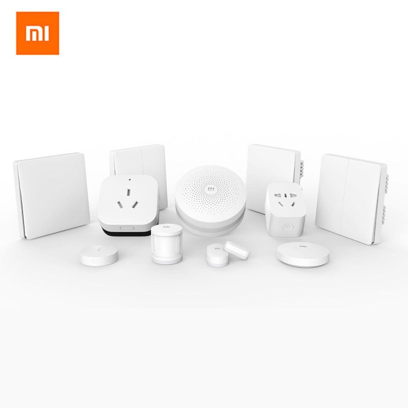 2019 Xiaomi mijia porte-voie + porte/fenêtre, température/humidité/amplificateur WIFI 2, capteur de corps humain, Kit de prise intelligente maison intelligente