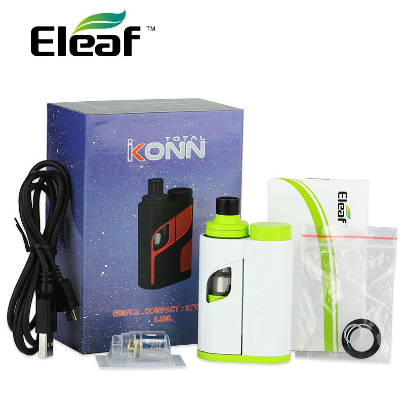 Original 50W Eleaf iKonn Total Vape Kit 50W 5.5ml Ello Mini XL Tank iKonn E-Cigs iKonn Total Start KIT No Battery vs istick Pico